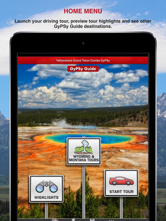 Yellowstone Grand Teton GyPSy screenshot 9