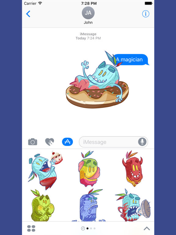 Cup Cake Monster Emoji Sticker screenshot 10