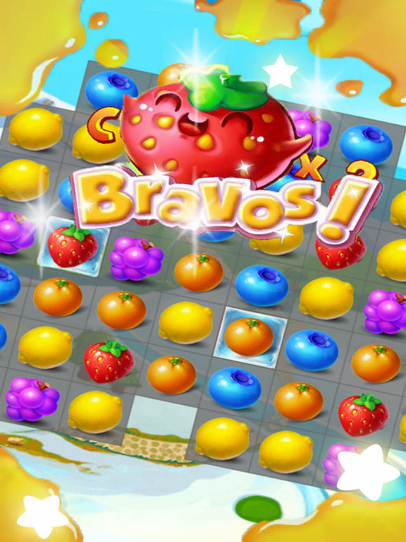 Sky Fruit War - Balst Jam screenshot 4