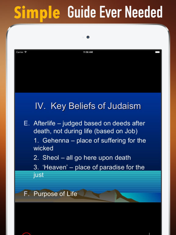 Jewish Glossary: Cheatsheet with Study Guide screenshot 7