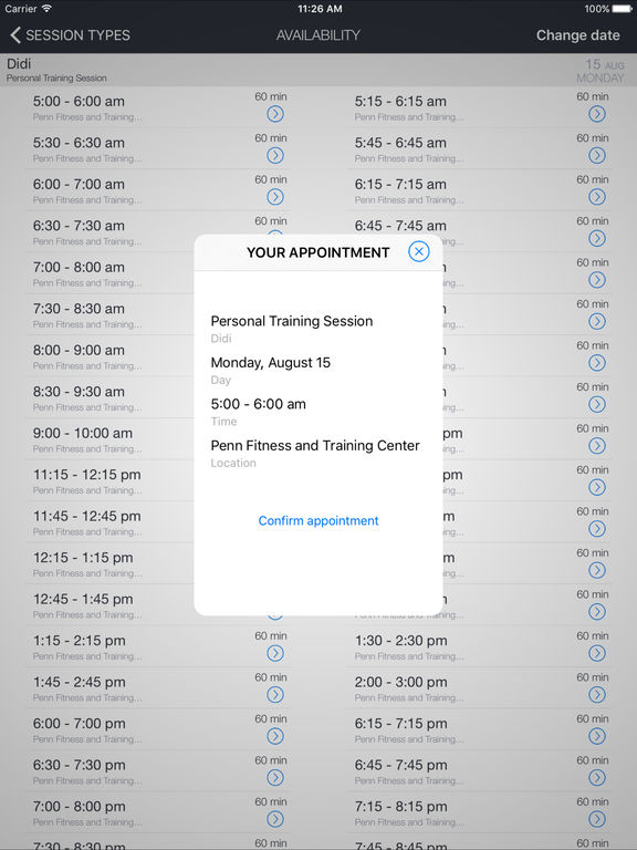 Penn Fitness and Training Mobile screenshot 4