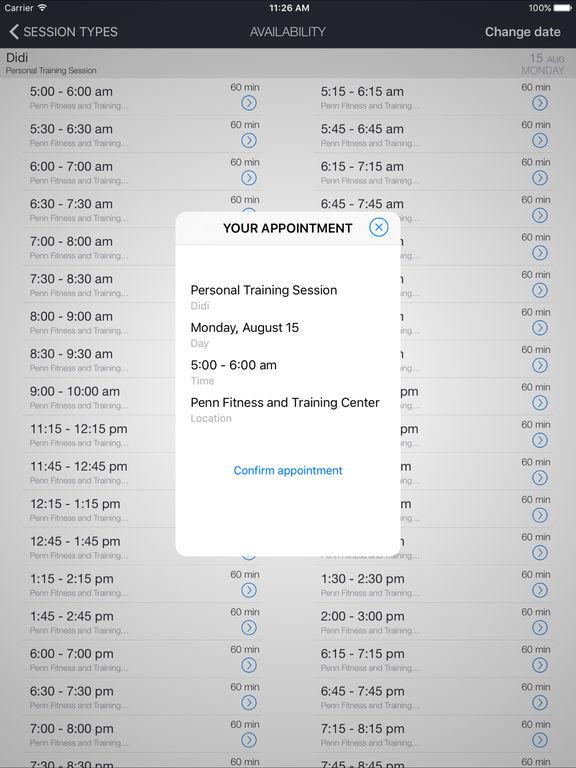 Penn Fitness and Training Mobile screenshot 4
