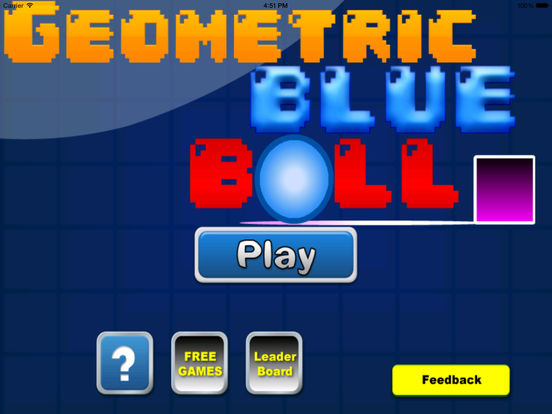 A Geometric Blue Ball screenshot 6