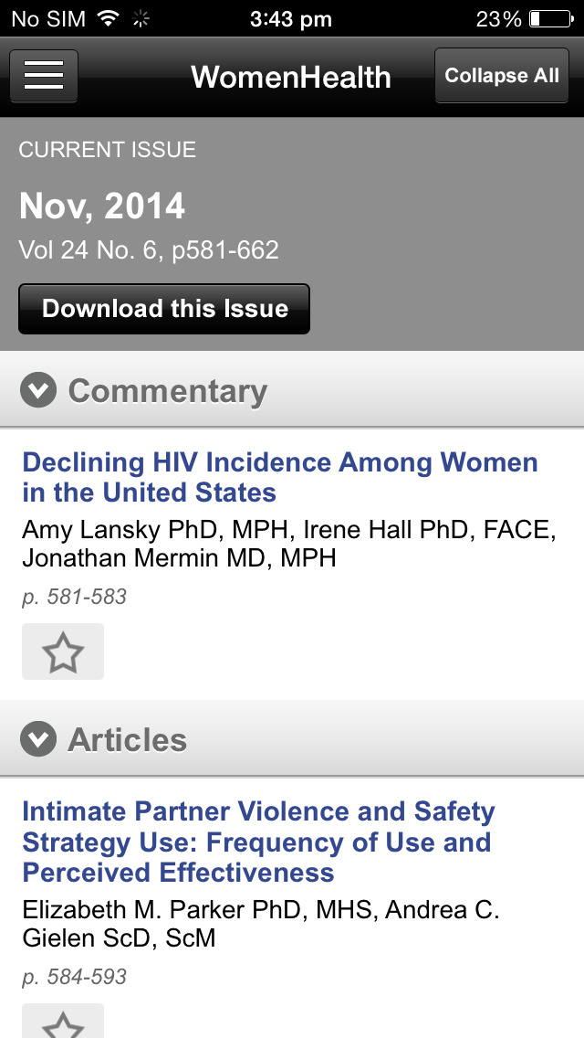 Women's Health Issues screenshot 5