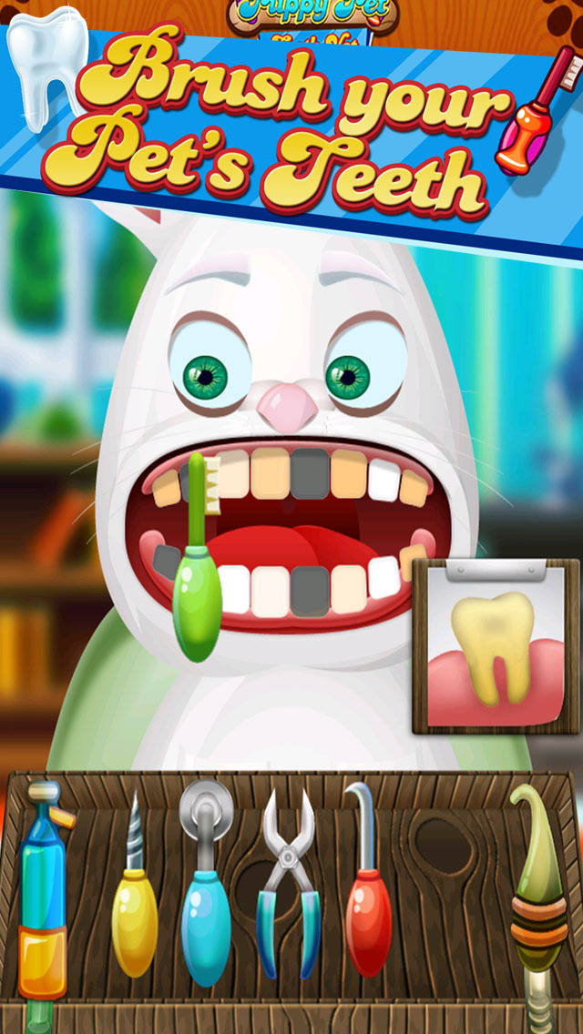 ' A Baby Puppy Pet Tooth Vet- Farm Animal Dentist Game screenshot 2