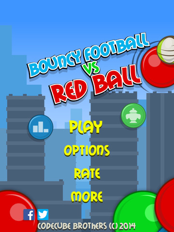 Bouncy FootBall vs Red Ball FREE screenshot 8