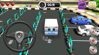 Action Police Car Parking Simulator 3D - Real Test Driving Game screenshot 4