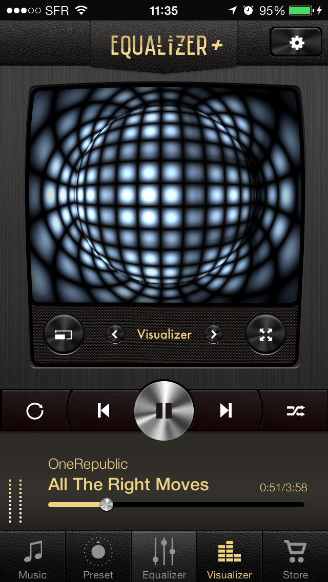 Equalizer+ HD music player screenshot 2