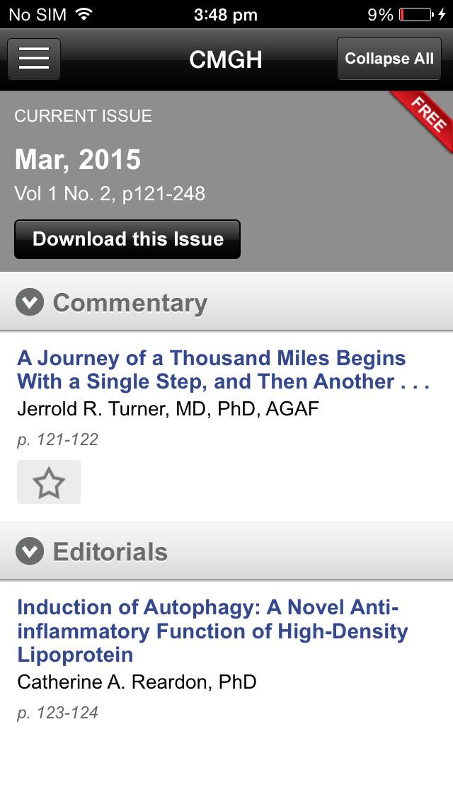 CMGH Journal screenshot 5