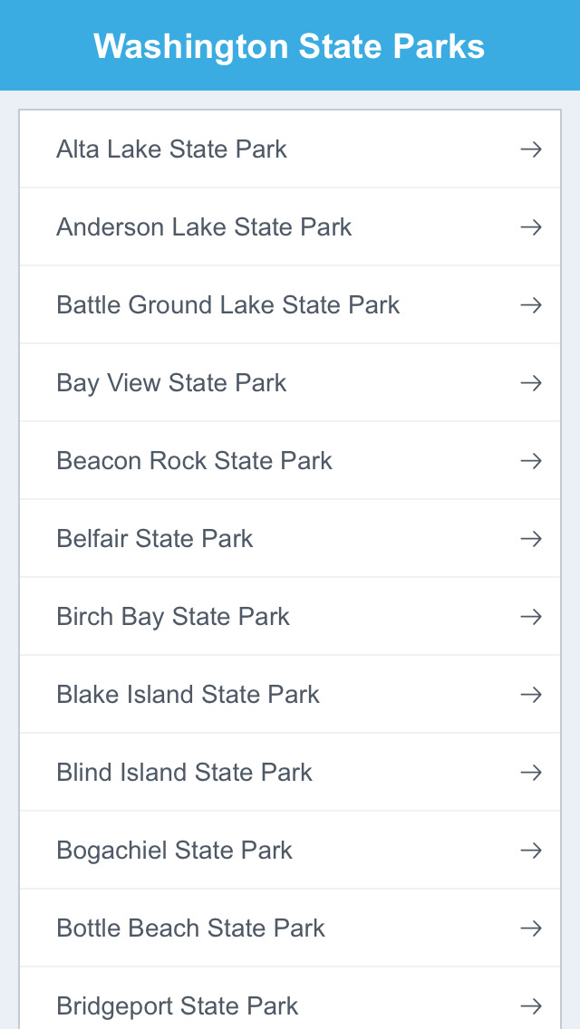 Washington National Parks & State Parks screenshot 2