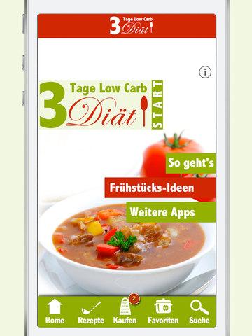 3 Tage Low Carb Diät - Abnehmen übers Wochenende, schlank ohne Kohlenhydrate screenshot 9