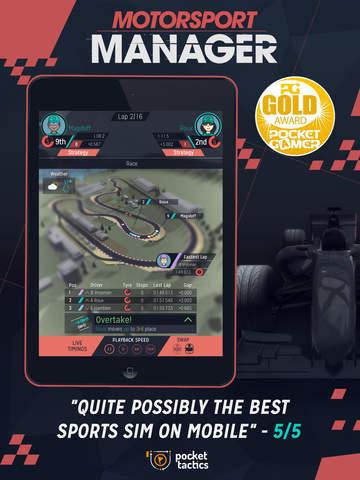 Motorsport Manager Mobile screenshot #1
