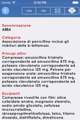 Farmaci - prontuario farmaceutico - náhled