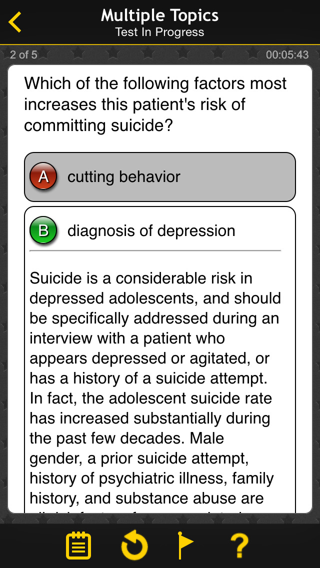 USMLE Psychiatry Q&A by LANGE screenshot 2