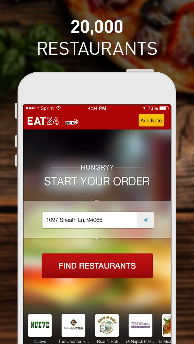 Yelp Eat24 - Order Food Delivery & Takeout screenshot 2