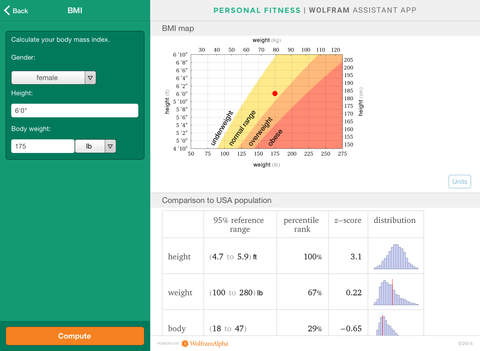 Wolfram Personal Fitness Assistant App screenshot 10