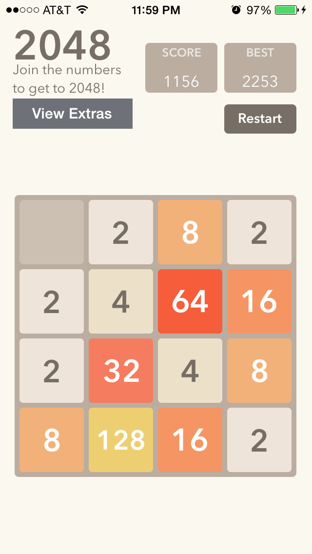 2048 Slider - The 2048 Number Puzzle Game screenshot 1