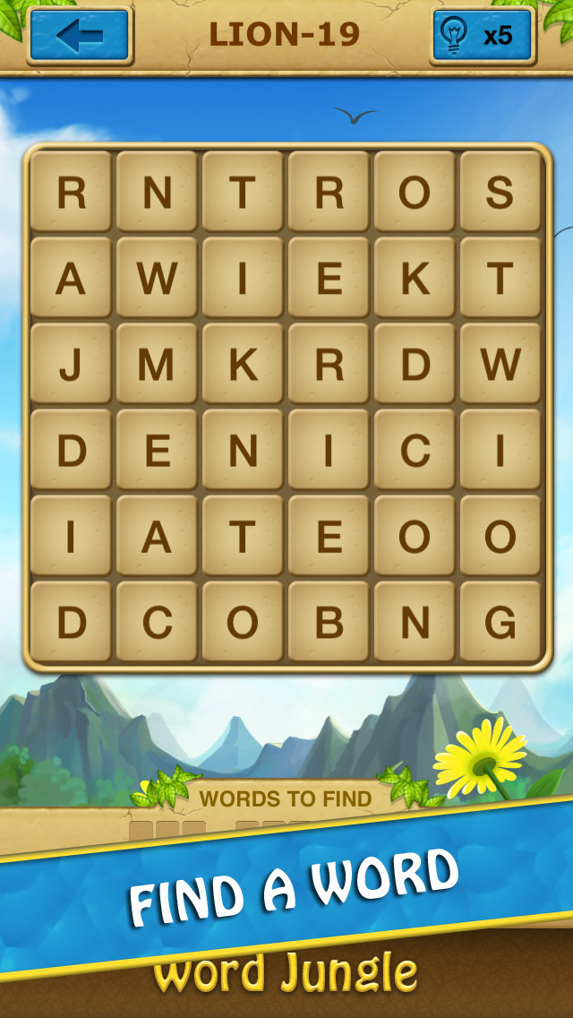 Word Jungle - Amazing Word Search Puzzle Game screenshot 1