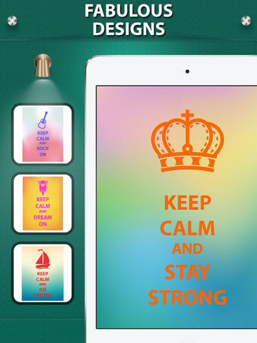 Keep Calm And Carry On Wallpapers & Posters Creator with Funny Icons & Logos screenshot #2