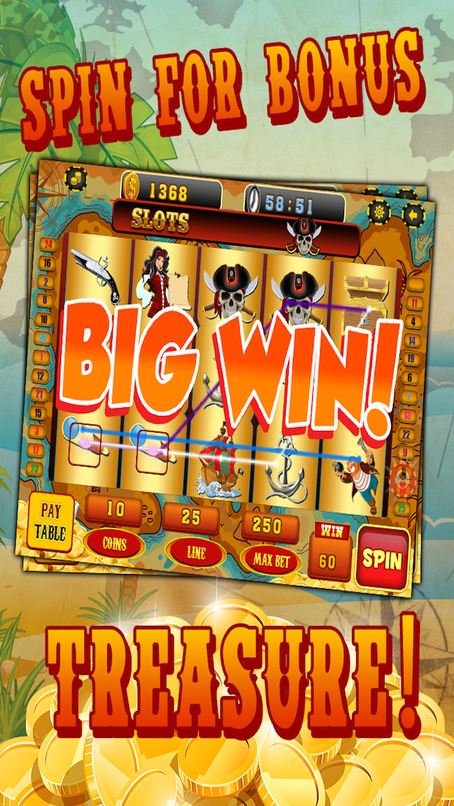 Ace Pirates Slots Casino - Lucky 777 Jackpot Journey Slot Machine Games Free screenshot 4
