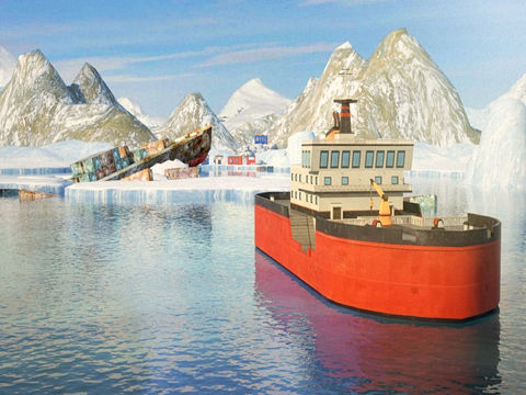 3D Icebreaker Parking - Arctic Boat Driving & Simulation Ship Racing Games screenshot 9