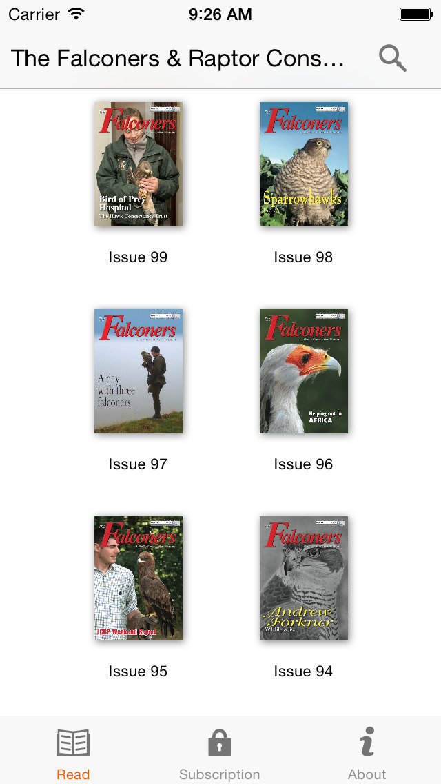 The Falconers & Raptor Conservation Magazine screenshot 2