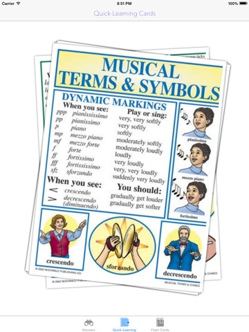 Musical Quick-Learn Term & Flashcard: Image and Video illustrations with interesting facts sheet screenshot 9