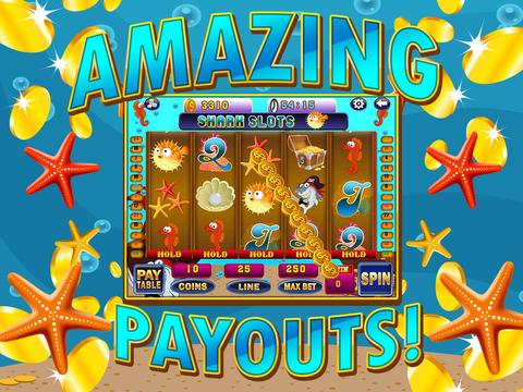 Ace Shark Slots - Fun Fish Tank Bash Vegas Slot Machine Games Free screenshot 8