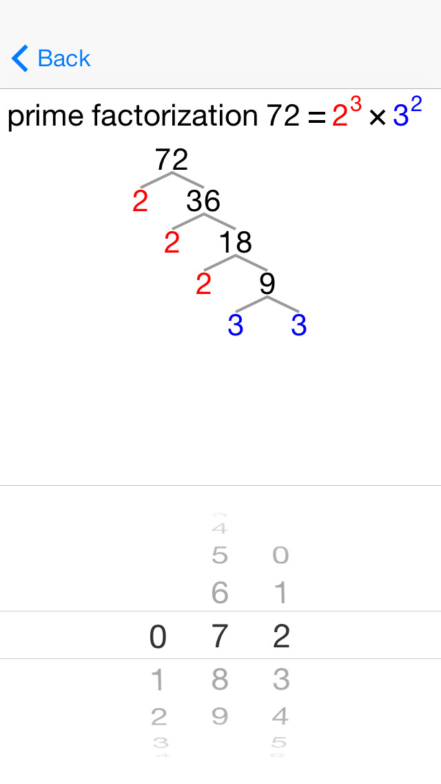 20/20 Primes and Factor Trees screenshot 1