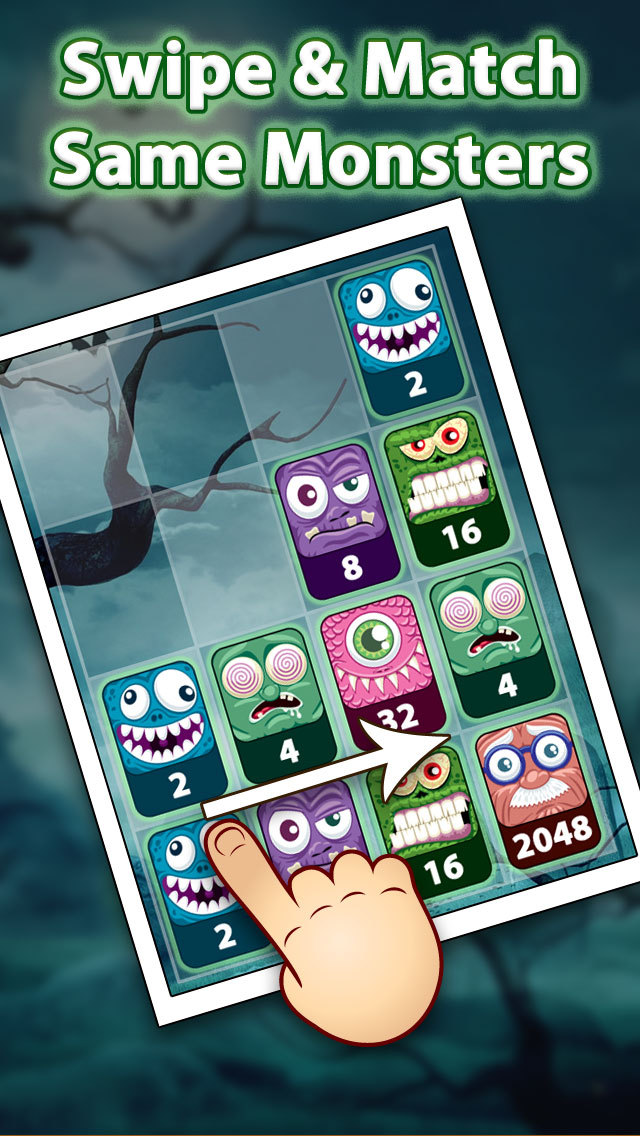 2048 Aaah! Monsters Pro screenshot 2
