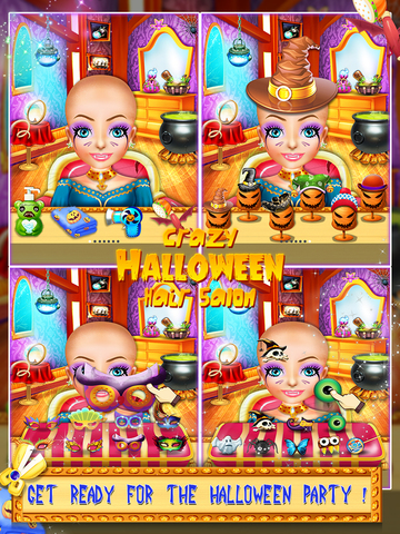 Crazy Halloween Hair Salon screenshot 4