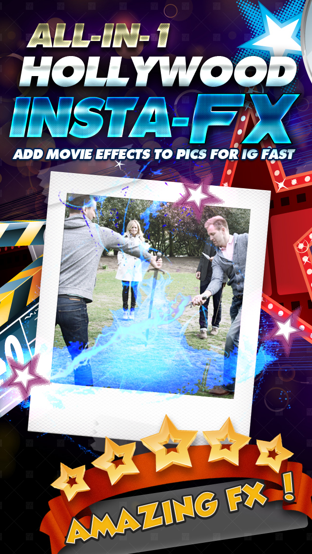 All-in-1 Hollywood Insta-FX (Add Movie Effects Edits to Pics for IG Fast) FREE screenshot 1