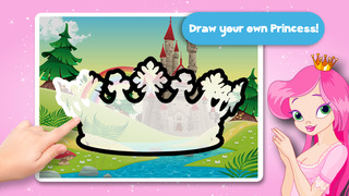 Free Kids Puzzle Teach me Tracing & Counting with Princesses: discover pink pony's, fairy tales and the magical princess screenshot 2