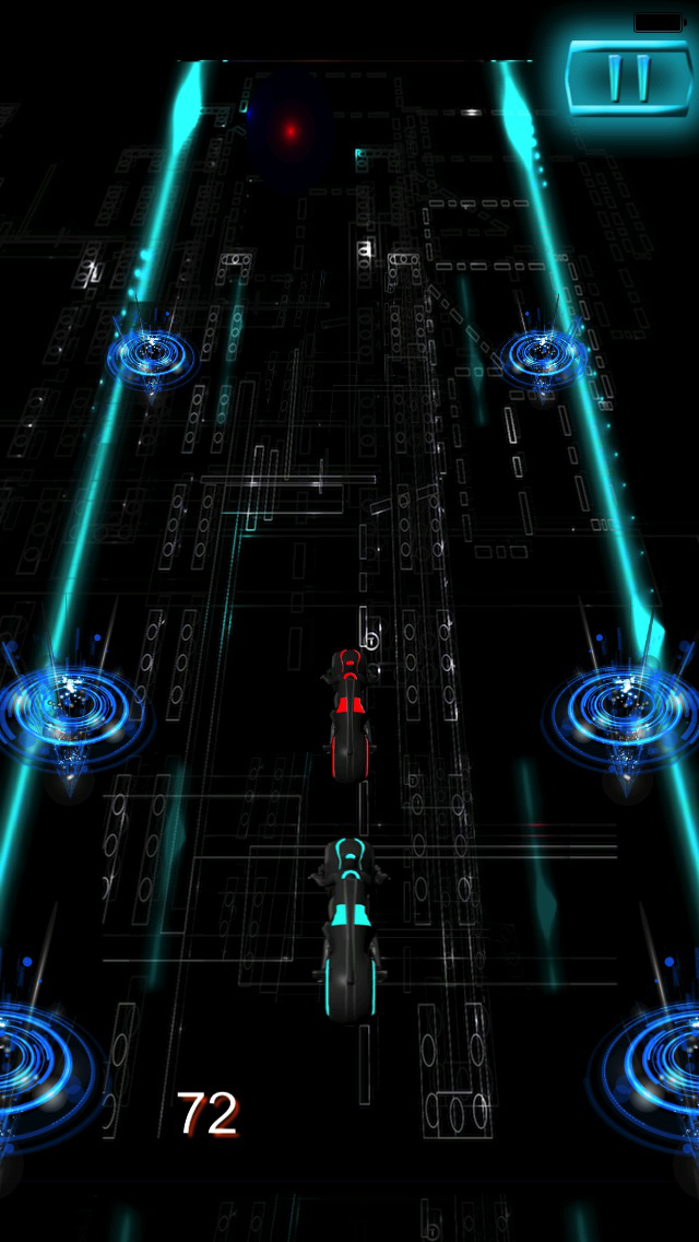 Turbo Mania : Persecution Racing Neon 3D Bike screenshot 4