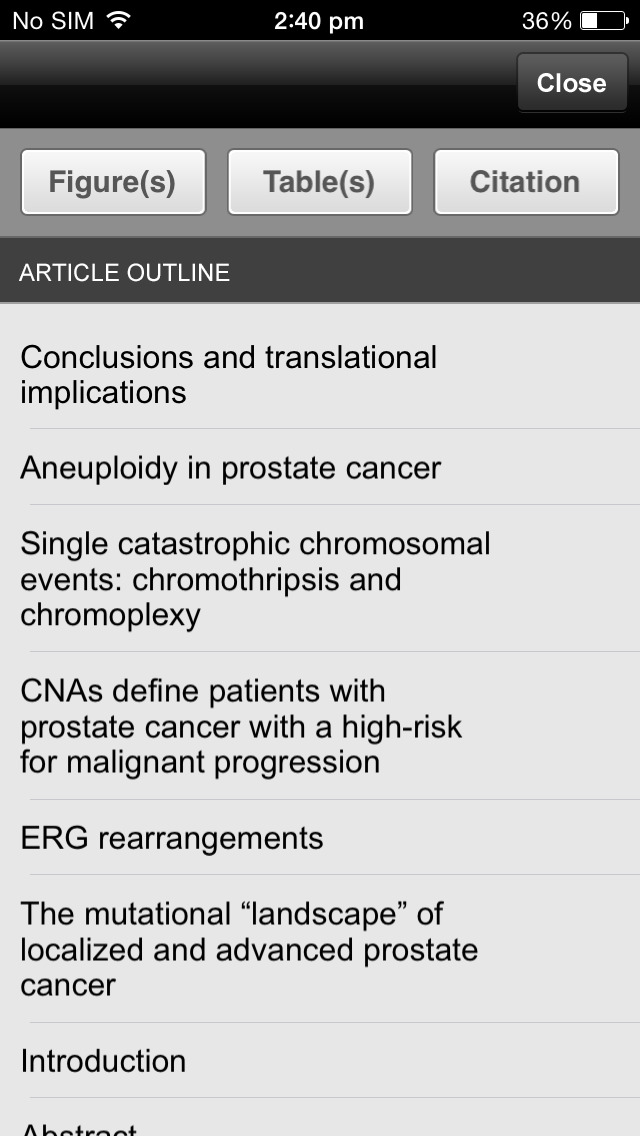 Urologic Oncology screenshot 2