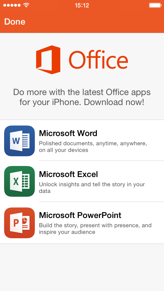 Office Mobile - replaced by new apps screenshot #1