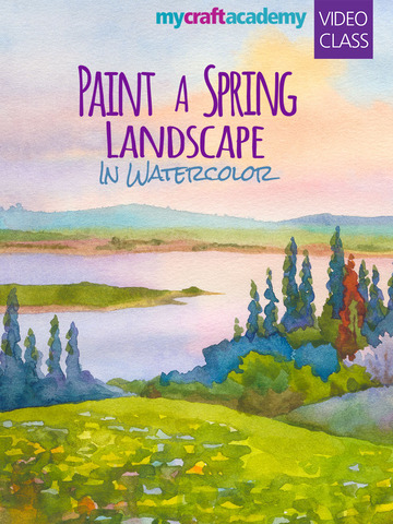 Paint a Spring Landscape in Watercolor screenshot 6