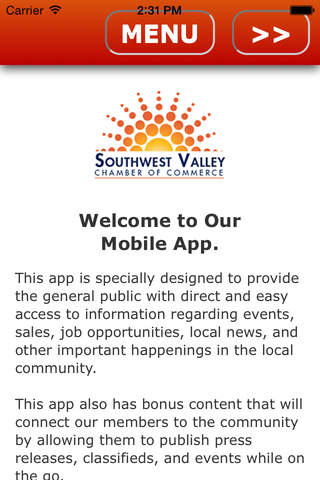 Southwest Valley Chamber of Commerce Mobile - náhled