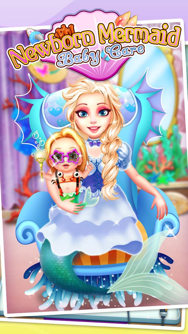 Mermaid's Newborn Baby Doctor - kids game & new baby screenshot 1