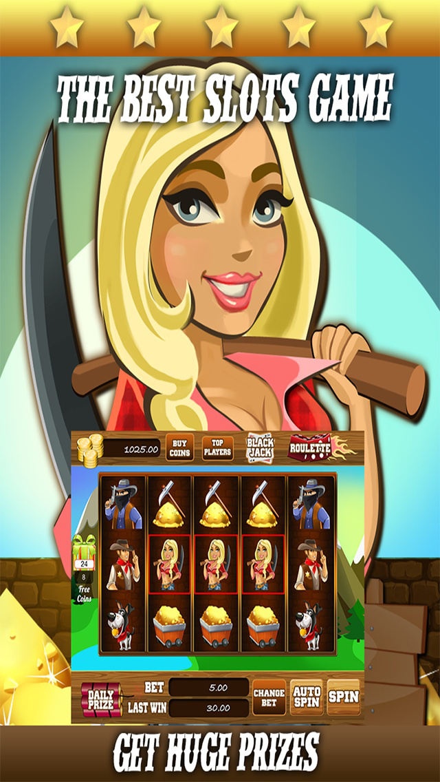 AAA Gold Mine Slots - 777 Free Casino Slot Machine Games screenshot 3