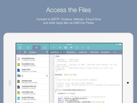Koder Code Editor screenshot 4