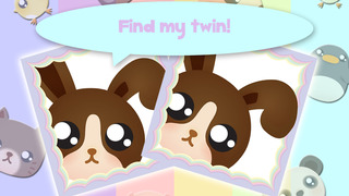 Cute Chibi Pets Memo Puzzle Pro screenshot 1