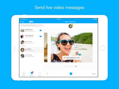 Glide - Live Video Messenger screenshot 6