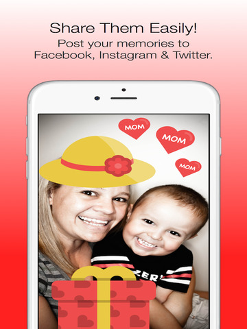 Mother's Day Photo Stickers - with Facebook & Instagram Sharing screenshot 4
