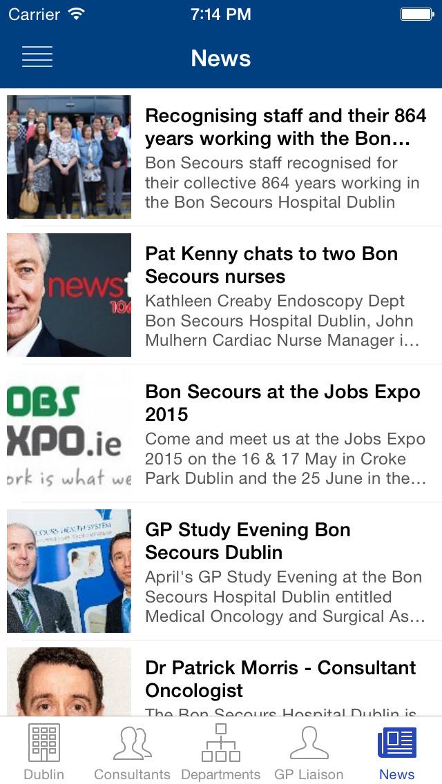 Bon Secours Hospitals, Ireland screenshot 5