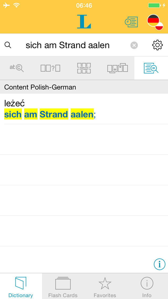 German Polish Dictionary screenshot 2
