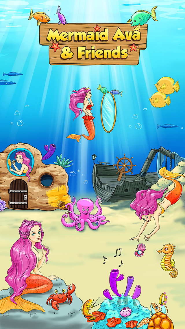 Mermaid Ava and Friends - Ocean Princess Hair Care, Make Up Salon, Dress Up and Underwater Adventures screenshot 1