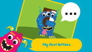 My first alphabet and letters monster puzzle Sound Game for toddlers and preschoolers screenshot 1