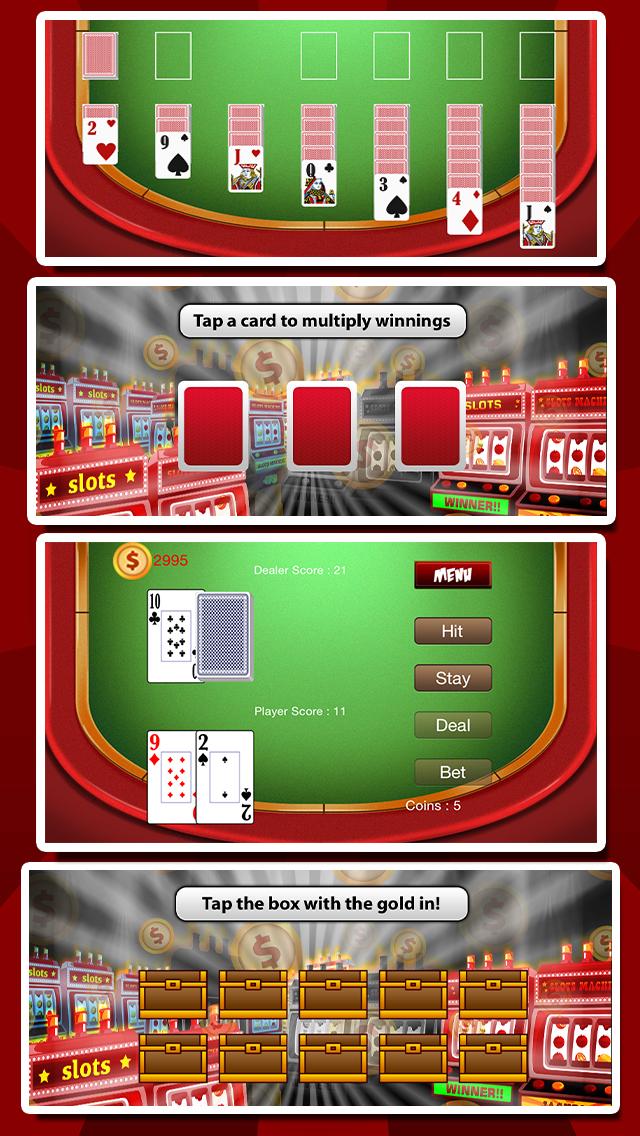 `Ace Win Royal Gold Poker Casino Coin Jackpot Slots - Slot Machine with Blackjack, Solitaire, Roulette, Bonus Prize Wheel screenshot 2