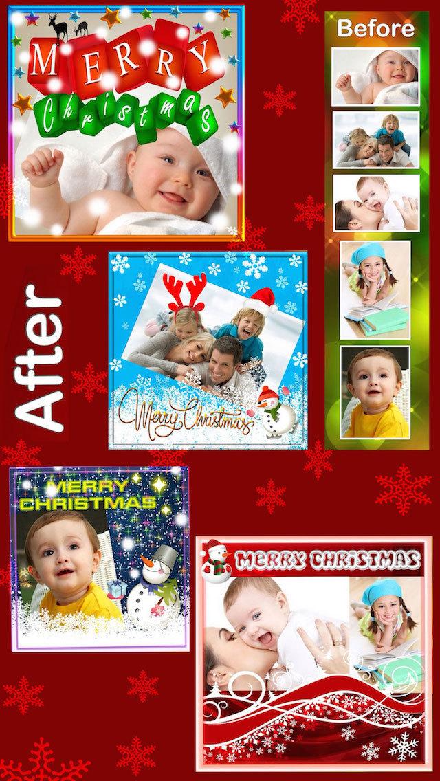 Christmas Photo Frames and Stickers :) screenshot 2